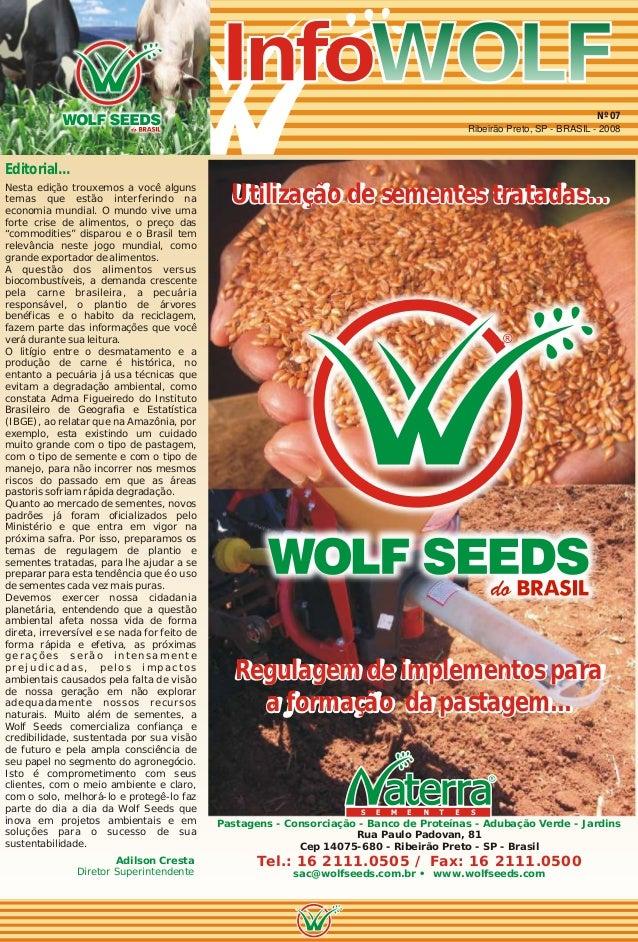 InfoWOLFInfoWOLFWOLFInfoWOLF Editorial... Adilson Cresta Diretor Superintendente Nesta edição trouxemos a você alguns tema...