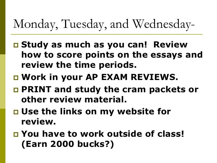 Info about ap exam