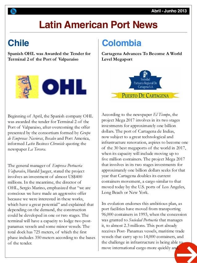 Latinports Newsletter April-June 2013