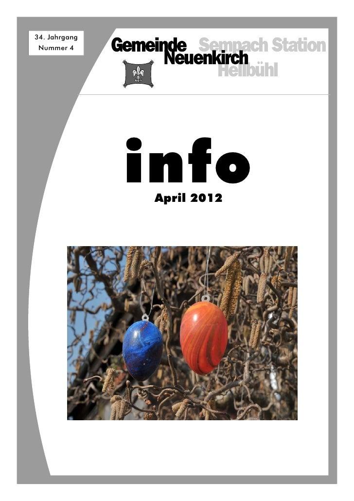 34. Jahrgang Nummer 4               info               April 2012