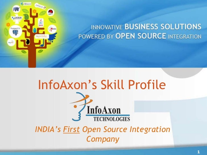 InfoAxon's Skill Profile<br />1<br />INDIA's First Open Source Integration Company<br />