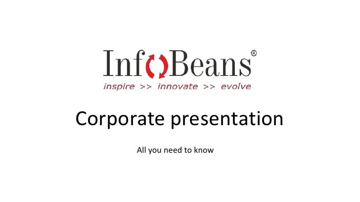 Corporate presentation<br />All you need to know<br />