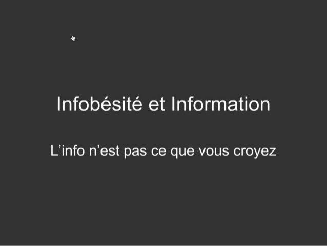 Infobesite et information