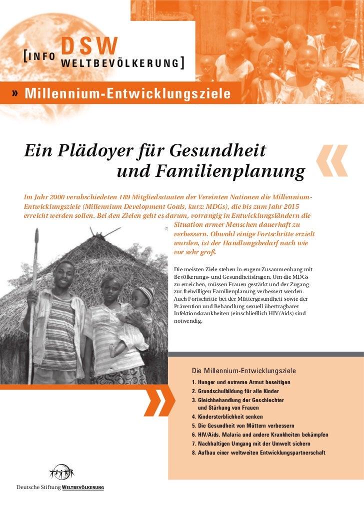 Infoblatt Millennium-Entwicklungsziele