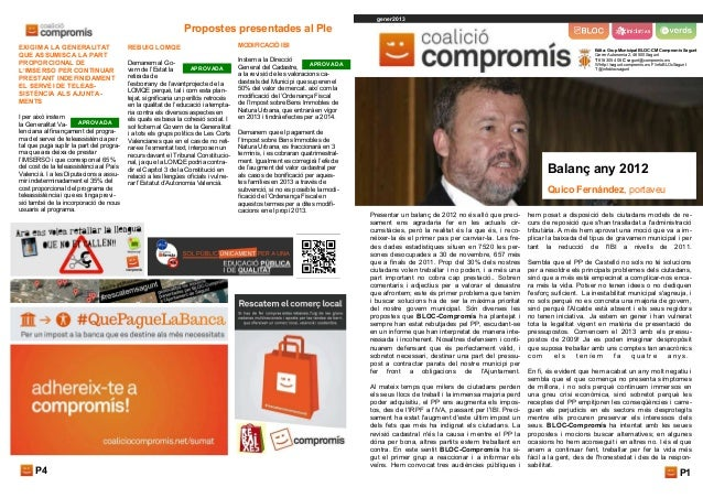 gener2013                                                               Propostes presentades al PleEXIGIM A LA GENERALITA...