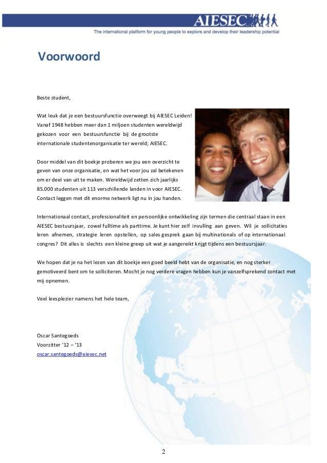motivatiebrief bestuursfunctie Bestuursfuncties AIESEC Leiden 2013/2014