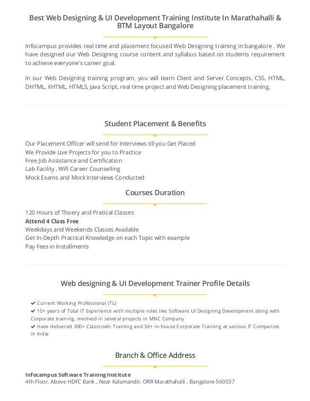 Web Desgining Courses In Bangalore