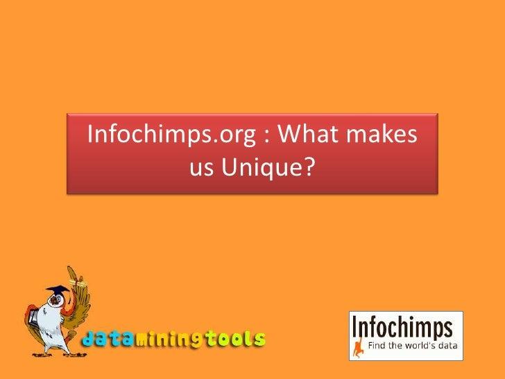 Infochimps.org : What makes us Unique?<br />