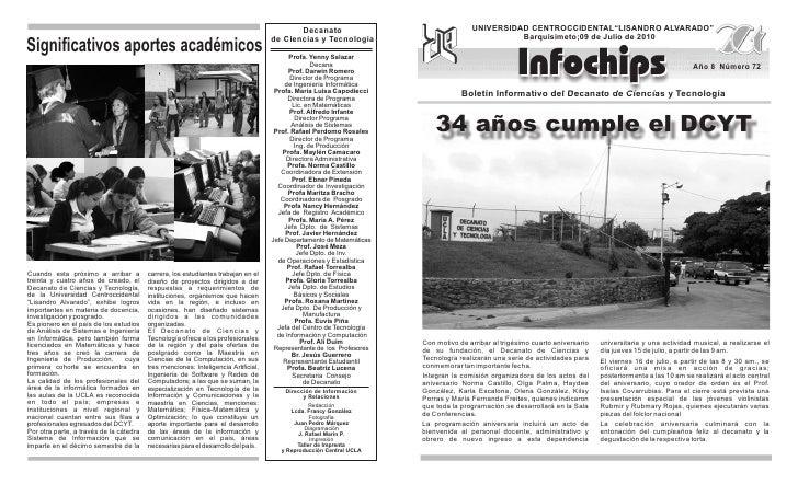 """Decanato                                   UNIVERSIDAD CENTROCCIDENTAL""""LISANDRO ALVARADO""""                                 ..."""