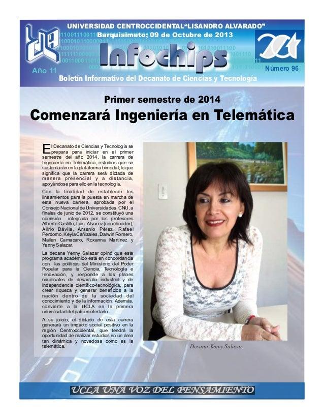 """UNIVERSIDAD CENTROCCIDENTAL""""LISANDRO ALVARADO"""" 011001110011000001100011010170 de Octubre de 2013 Barquisimeto; 09 10001111..."""