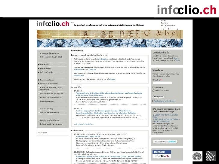 Présentation infoclio.ch (29/9/2010) Slide 3