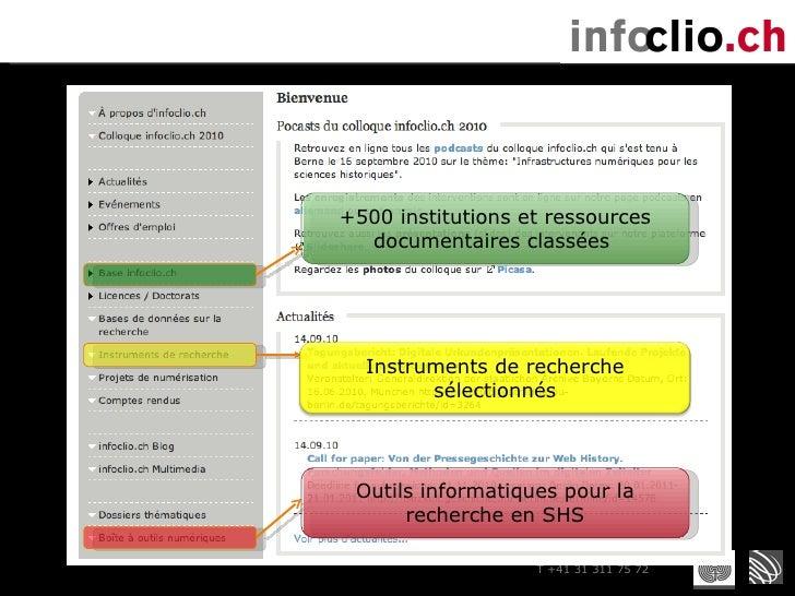 +500 institutions et ressources documentaires classées  Outils informatiques pour la recherche en SHS Instruments de reche...