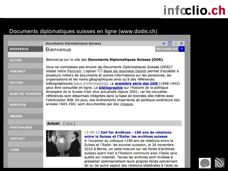 Documents diplomatiques suisses en ligne (www.dodis.ch)