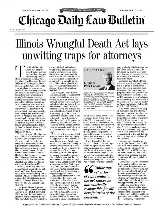Cogan's Corner Illinois Wrongful Death Act