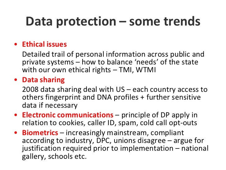 data protection and freedom Data protection it applies to personal data regardless of the format in which the data is held in (in other words, it applies equally to paper and electronic records) the legislation confers enhanced rights of privacy for an individual and certain obligations on the data controller (the body processing the personal data).