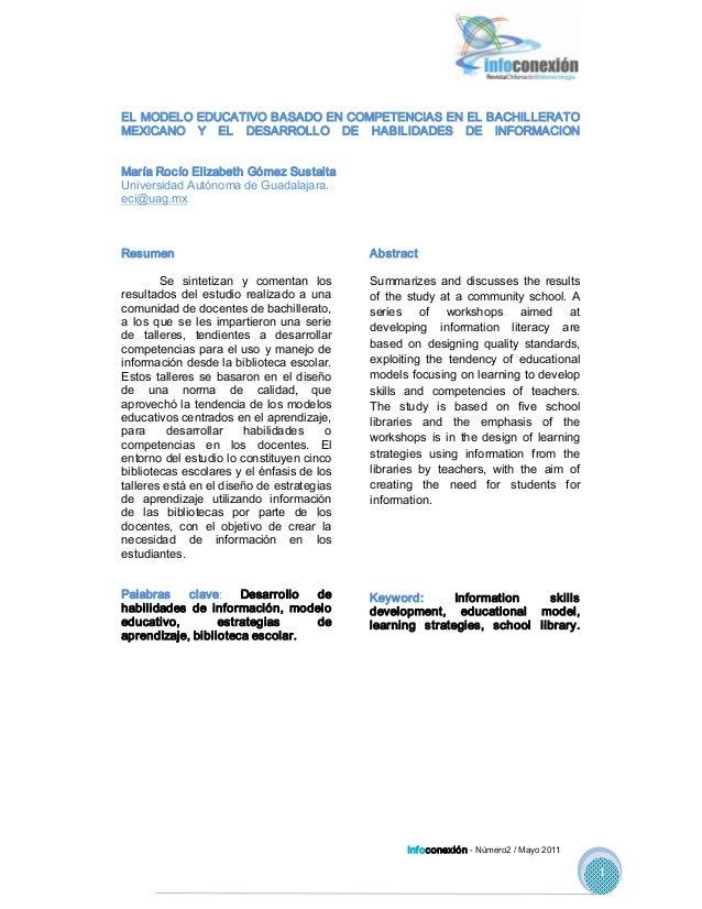 ELMODELOEDUCATIVOBASADOENCOMPETENCIASENELBACHILLERATO MEXICANO Y EL DESARROLLO DE HABILIDADES DE INFORMACI...