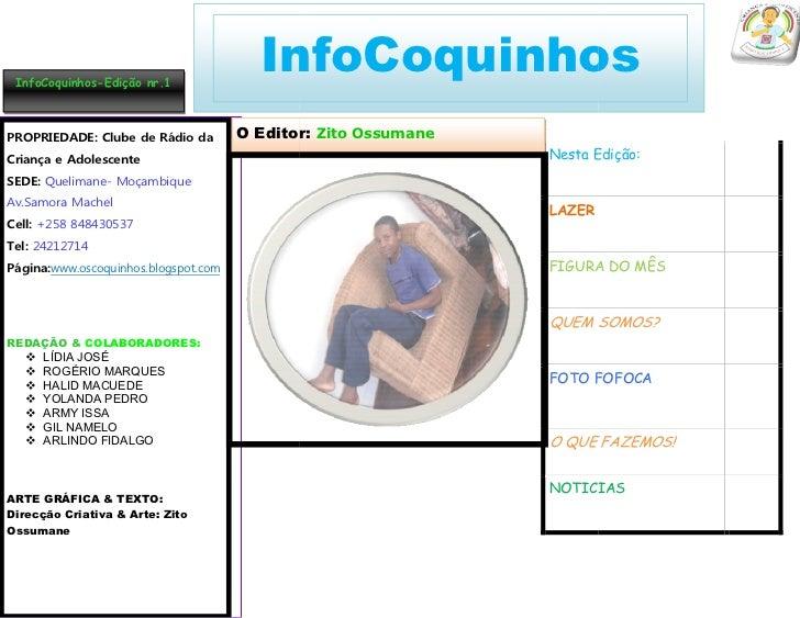 In                                      InfoCoquinho          1 | INFOCOQUINHOS |MENSAL |.JULHO. 2 InfoCoquinhos-Edição nr...