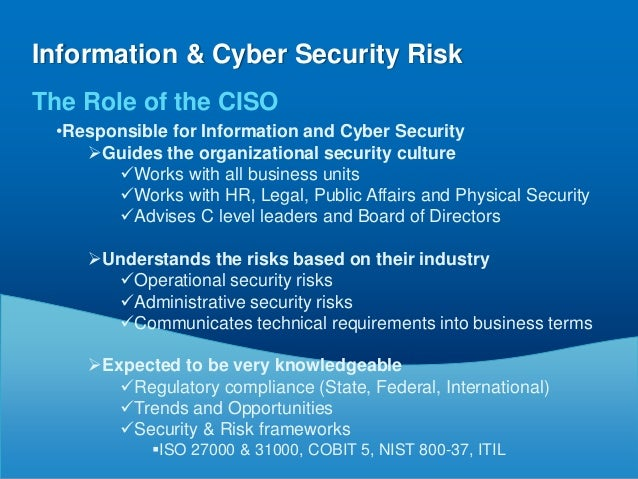 Information Amp Cyber Security Risk