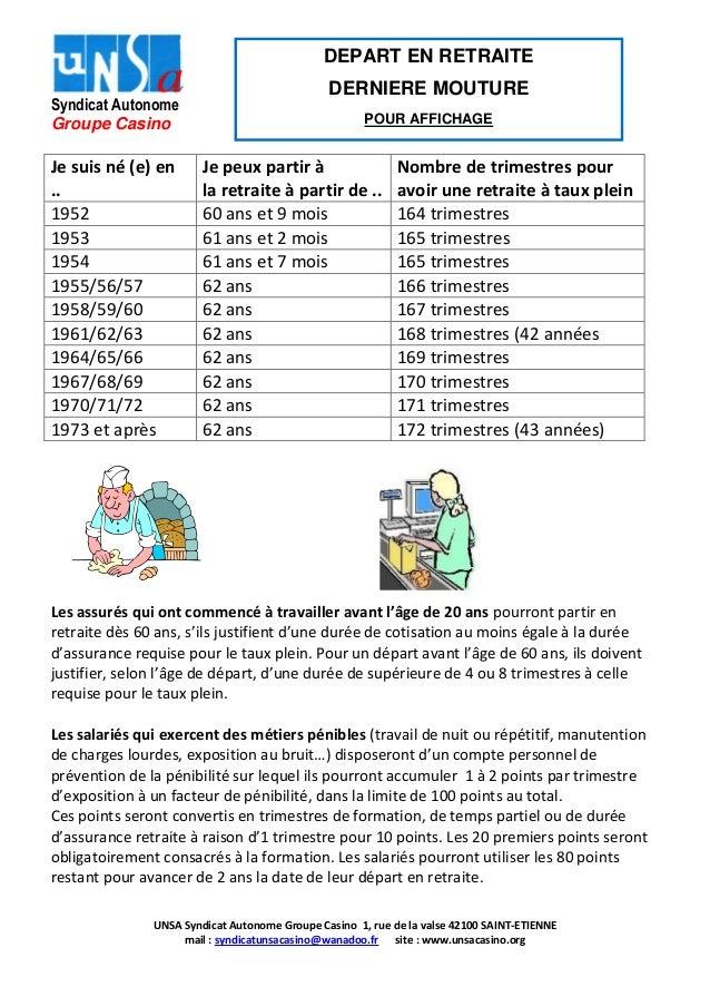 Info Depart En Retraite Oct 2013