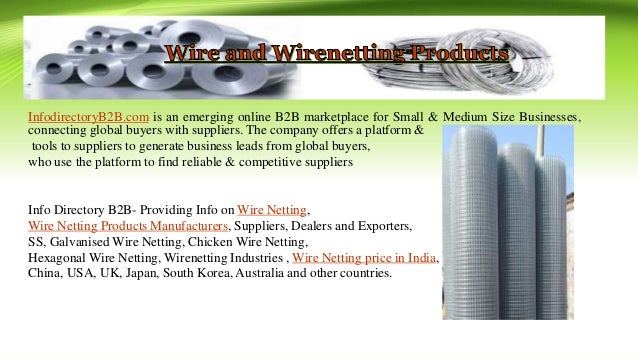 Wire Netting - INFODIRECTORY B2B.