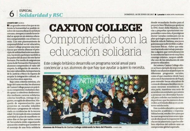 Caxton College comprometido con la educación solidaria