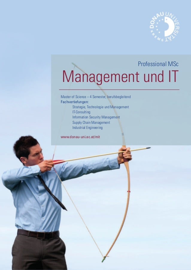 Master of Science – 4 Semester, berufsbegleitend Fachvertiefungen: Strategie, Technologie und Management IT-Consulting Inf...