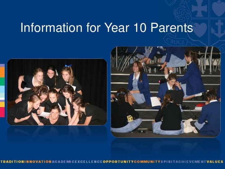 Information for Year 10 Parents