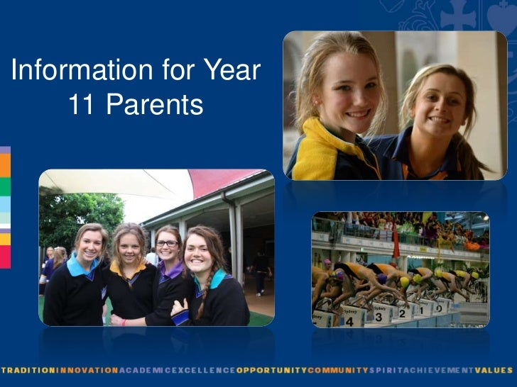 Information for Year     11 Parents