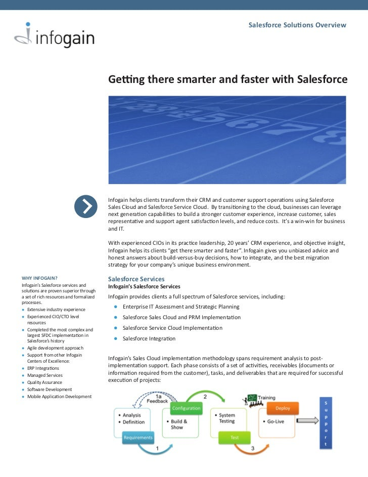 Salesforce Solutions Overview                                         Getting there smarter and faster with Salesforce    ...