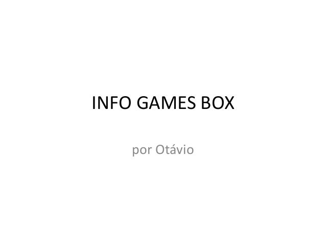 INFO GAMES BOX por Otávio