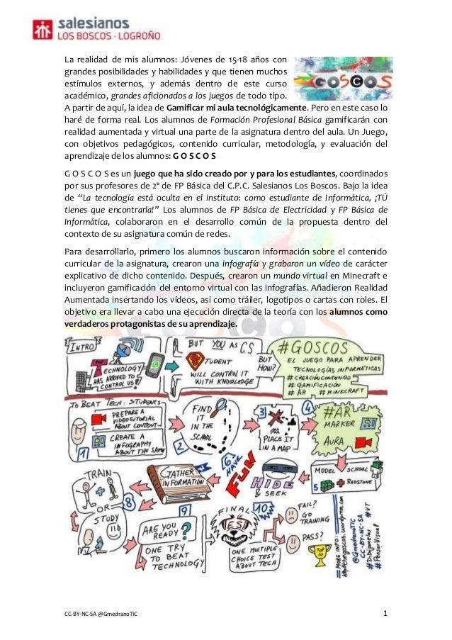 CC-BY-NC-SA @GmedranoTIC 1 La realidad de mis alumnos: Jóvenes de 15-18 años con grandes posibilidades y habilidades y que...