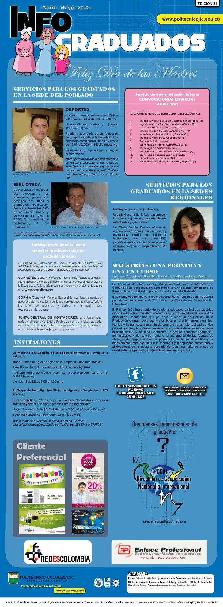 EDICIÓN 51                                       Abril - Mayo 2012INFO                                                    ...