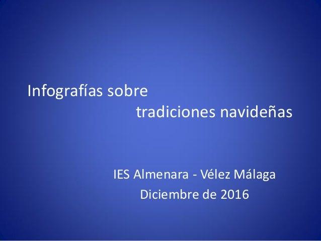 Infografías sobre tradiciones navideñas IES Almenara - Vélez Málaga Diciembre de 2016
