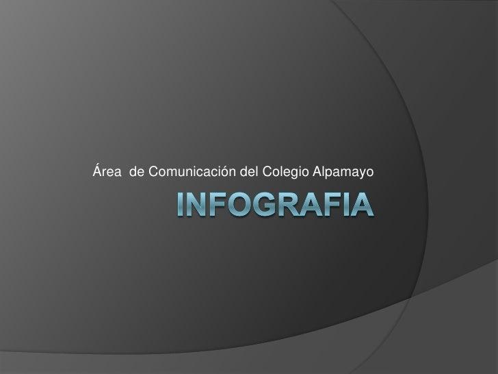 iNFOGRAFIA<br />Área  de Comunicación del Colegio Alpamayo<br />