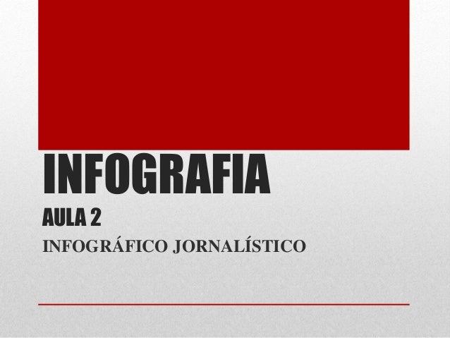 INFOGRAFIA AULA 2  INFOGRÁFICO JORNALÍSTICO