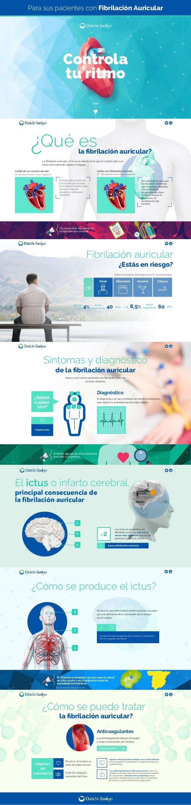 La causa más frecuente es la hipertensión arterial Si tienes alguno de estos síntomas consulta a tu médico El ictus es una...