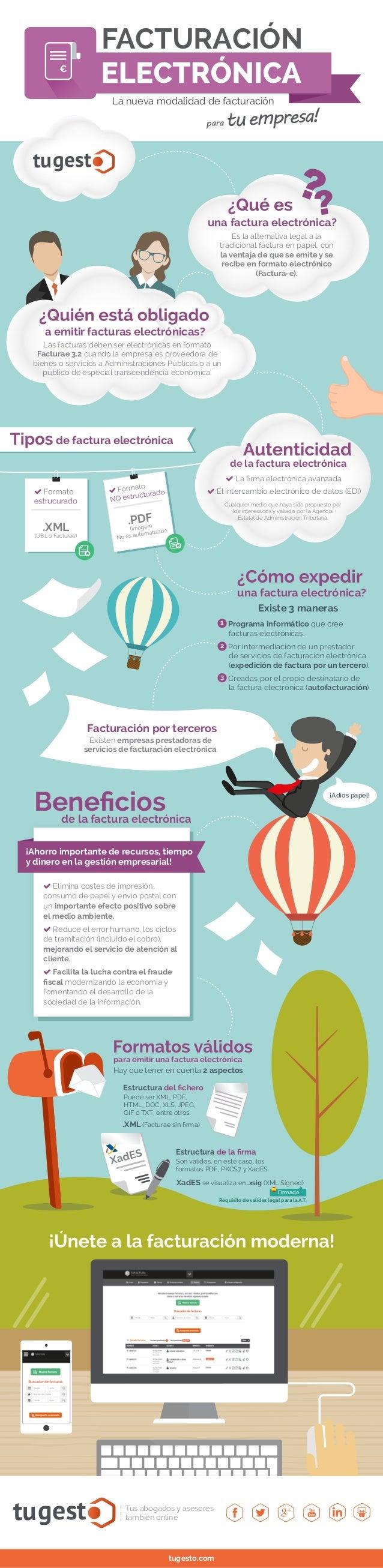 tugest Tus abogados y asesores también online tugesto.com La nueva modalidad de facturación FACTURACIÓN Es la alternativa ...