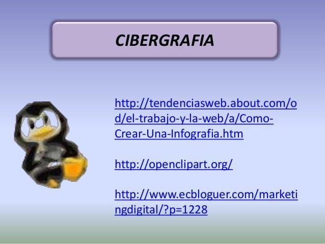 http://tendenciasweb.about.com/od/el-trabajo-y-la-web/a/Como-Crear-Una-Infografia.htmhttp://openclipart.org/http://www.ecb...