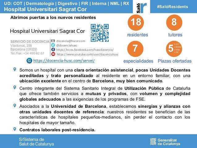 18 residentes tutores UD: COT | Dermatolog�a | Digestivo | FIR | Interna | NML | RX Hospital Universitari Sagrat Cor #Sal�...