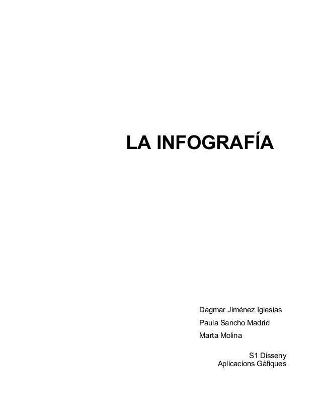 LA INFOGRAFÍA  Dagmar Jiménez Iglesias  Paula Sancho Madrid  Marta Molina  S1 Disseny  Aplicacions Gàfiques