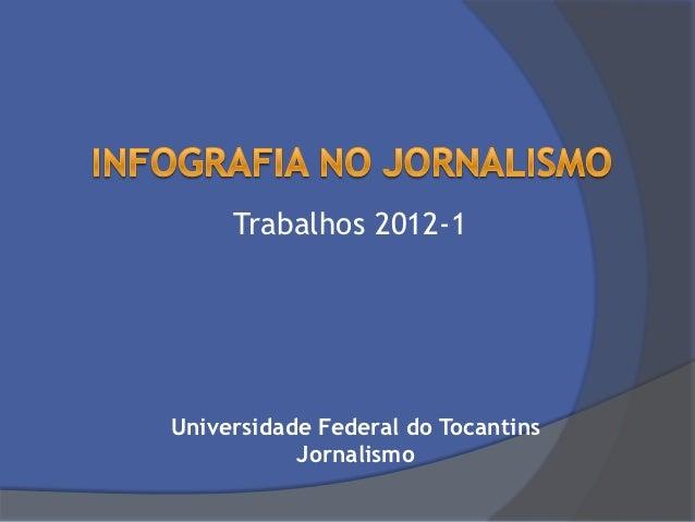 Trabalhos 2012-1Universidade Federal do Tocantins           Jornalismo
