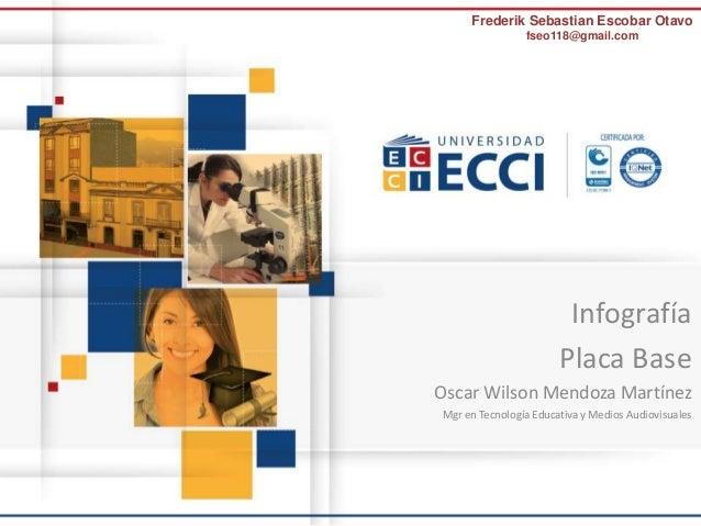 Frederik Sebastian Escobar Otavo  fseo118@gmail.com  Infografía  Placa Base  Oscar Wilson Mendoza Martínez  Mgr en Tecnolo...