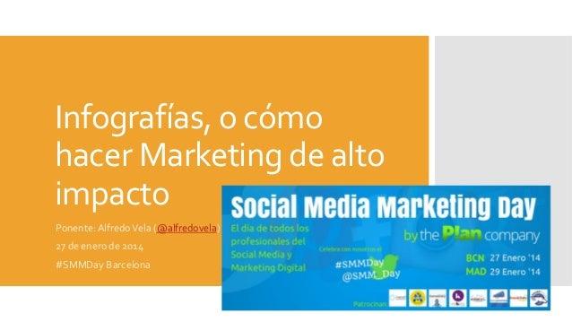 Infografías,  o  cómo   hacer  Marketing  de  alto   impacto   Ponente:  Alfredo  Vela  (@alfredovel...