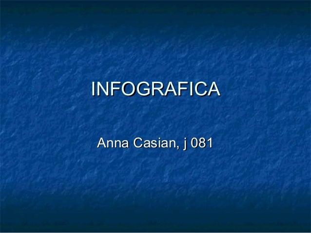 INFOGRAFICAINFOGRAFICA Anna Casian, j 081Anna Casian, j 081