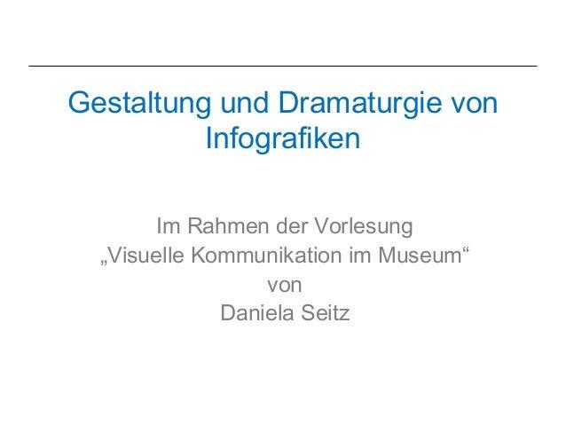 """Gestaltung und Dramaturgie von          Infografiken        Im Rahmen der Vorlesung  """"Visuelle Kommunikation im Museum""""   ..."""