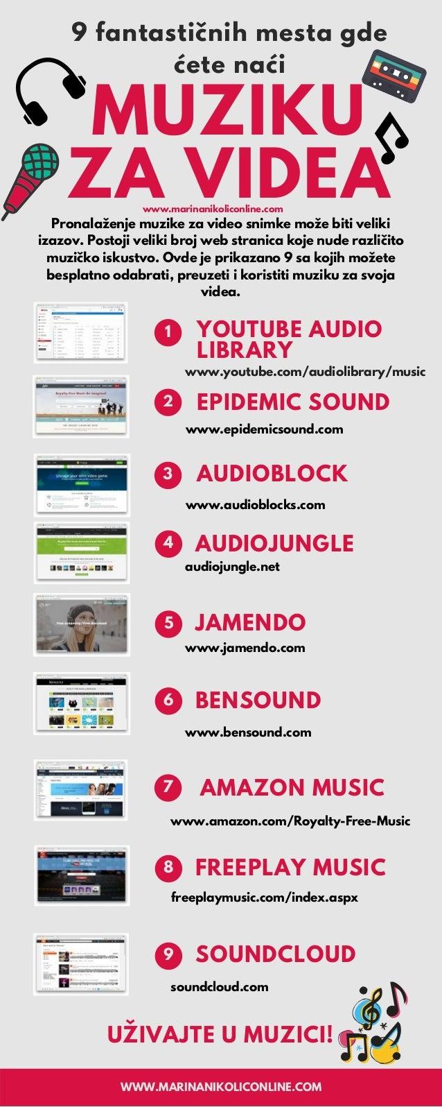 Pronalaženje muzike za video snimke može biti veliki izazov. Postoji veliki broj web stranica koje nude različito muzičko ...