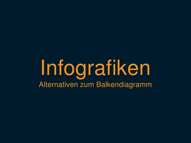 Infografiken<br />Alternativen zum Balkendiagramm<br />