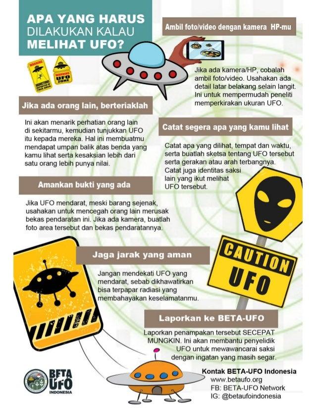 Infografis melihat UFO