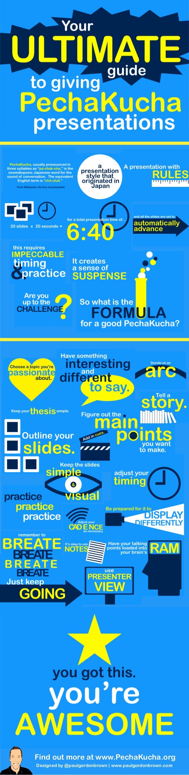 Find out more at www.PechaKucha.org  Designed by @paulgordonbrown | www.paulgordonbrown.com