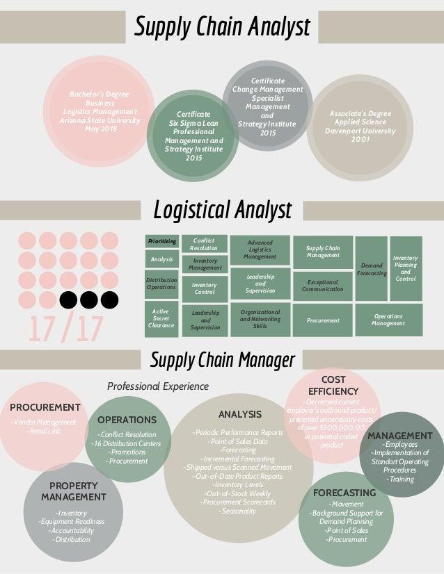 Infographic Supply Chain Resume
